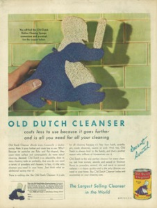Women and cleansing pad conflated