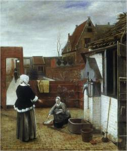 Pieter de Hooch, Woman and Maid in a Courtyard, c. 1670, London: National Gallery.