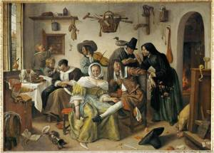 Jan Steen, The Topsy-Turvy World, 1663, oil on canvas, 105 x 145 cm.,