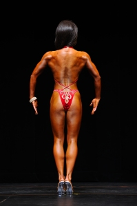 Naomi Sach's back pose, June 2012.