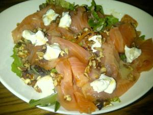 PDDs favourite meal from the Sugar Bowl: salmon salad plate.