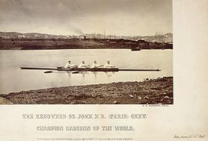 The group of mottly New Brunswickers had no coxswain.