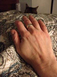 Julia's big ol' hands, #1