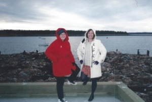 Lorrie and Lianne in St. Andrew's New Brunswick, c. 1998.