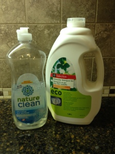 My dishwashing liquids.