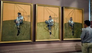 Francis Bacon, Three Studies of Lucian Freud--1969, recently sold for 143 million dollars.