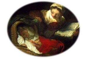 Fragonard, The Good Mother. Some historians argue that the ideal of attentive motherhood was invented during the eighteenth century.