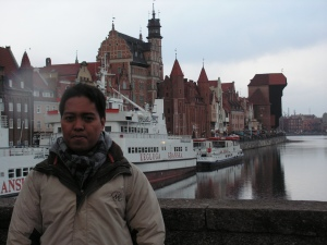 The author during a visit to Gdansk.