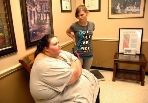Waiting for surgery, Christina on My 600-Pound Life, the Learning Channel.
