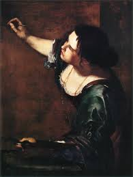 Artemesia Gentileschi, Self-Portrait at the Allegory of Painting; 1630.