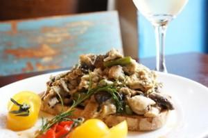 Basque mushrooms on toast.