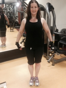 I have now lost 45 pounds of pregnancy weight. My goal is to be fit as a fiddle by the end of the summer.