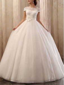 tulle-bateau-neckline-ball-gown-wedding-dress-with-cap-sleeves