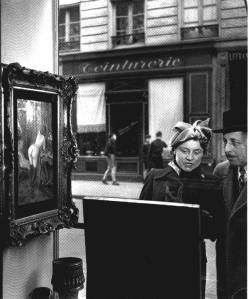 This photograph by Robert Doisneau, Un regard oblique, 1948, Life Magazine, has been analyzed for its representation of conventional acts of male and female looking.