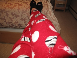 Fluffy Xmas jammies.
