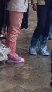 Fashionable foot wear in Venice.