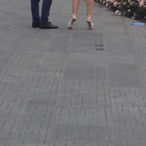 Cortona. Sunday walking shoes.