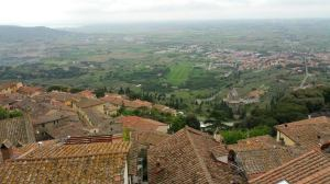 This is the view from my apartment in Cortona.