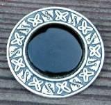 Aztec Obsidian Mirror Pin