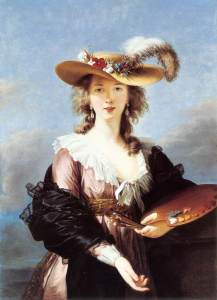Elisabeth Vigee-Lebrun, Self-portrait in a straw hat, 1782. Does her thumb double as a phallus?