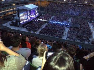 My view at the One Direction concert in Edmonton on July 21, 2015.