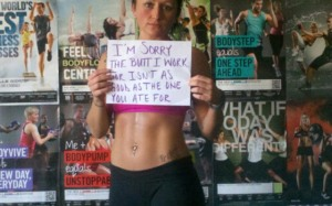 "From an article called: ""Fit shaming is the new fat shaming: Have you been a victim?"" See http://www.fitnflexed.com/article/fit-shaming-rise-have-you-been-victim"