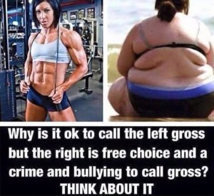 An anti-muscle shaming meme that fat shames. Seehttp://www.fitnessandpower.com/fitness-stories/muscle-shaming